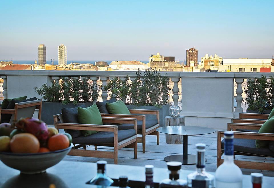 terraza del hotel alma terrazeo